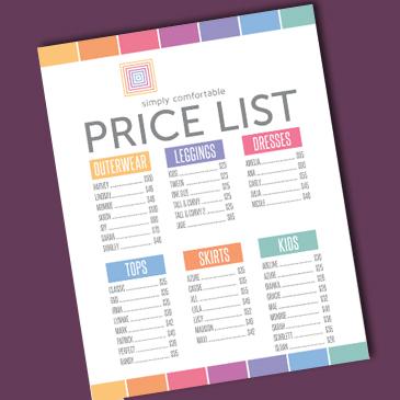 لیست قیمت
